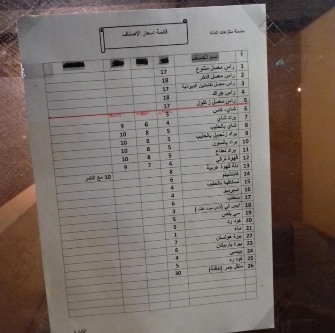 Altaf aldania coffe menu